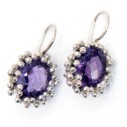 Amethyst Sterling Silver Earrings (India)