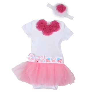 Just Girls Ruffle Romper Tutu Dress and Headband Set