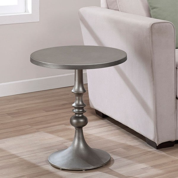Bailey Steel Grey Accent Table