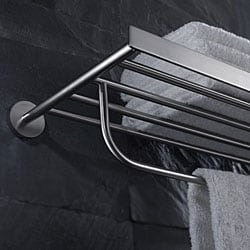 Kraus Imperium Bathroom Accessories - Bath Towel Rack with Towel Bar Brushed Nickel