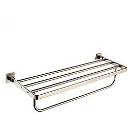 Kraus Aura Bathroom Accessories - Bath Towel Rack with Towel Bar Brushed Nickel