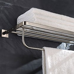 Kraus Aura Bathroom Accessory - Towel Rack/ Bar - Brushed Nickel
