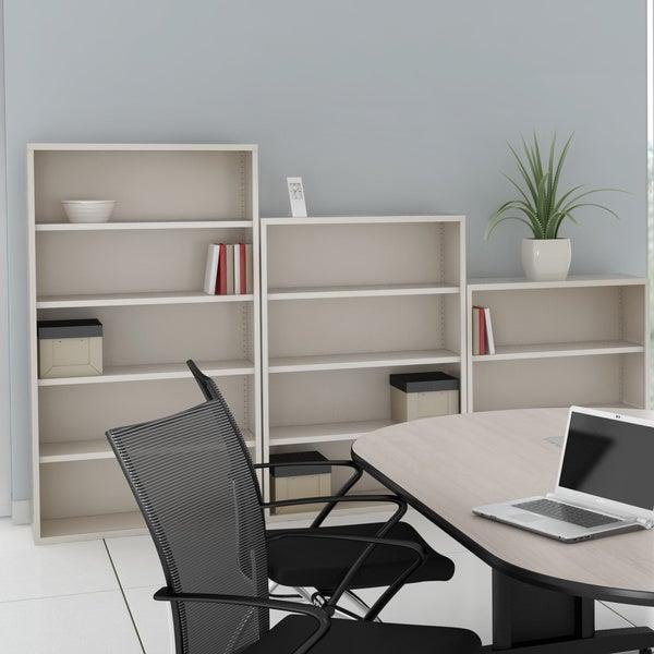 Mayline CSII 36-inch Wide All Steel 3-Shelf Bookcase