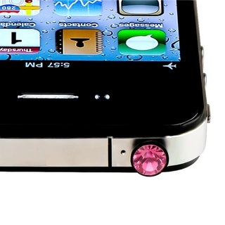 Pink Diamond Headset Dust Cap with Eject Pin for Apple iPhone/ iPod