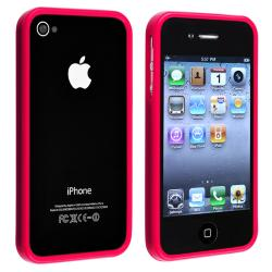 Red Shiny Bumper TPU Rubber Skin Case  for Apple iPhone 4/ 4S