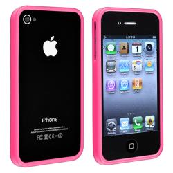 Pink Shiny Bumper TPU Rubber Skin Case  for Apple iPhone 4/ 4S