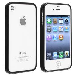 Black Shiny Bumper TPU Rubber Skin Case  for Apple iPhone 4/ 4S