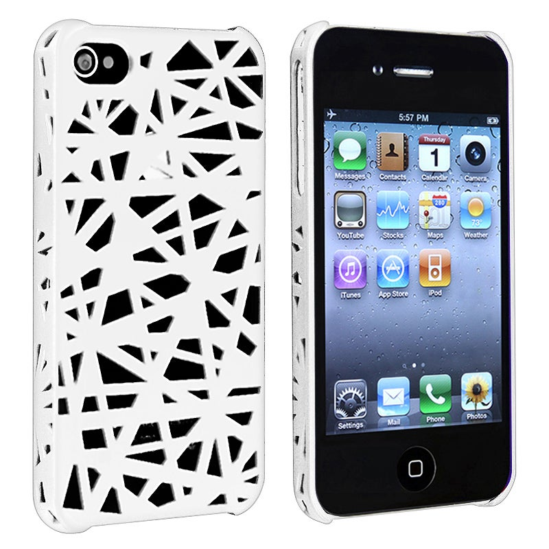White Bird Nest Rear Snap-on Case for Apple iPhone 4/ 4S
