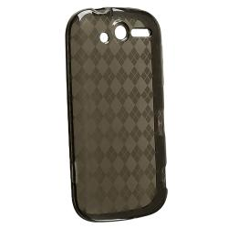Clear Smoke Argyle TPU Rubber Skin Case for HTC T-Mobile myTouch 4G