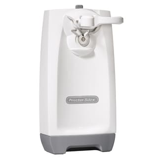 Proctor Silex 75670 White Extra-Tall Can Opener with Knife Sharpener