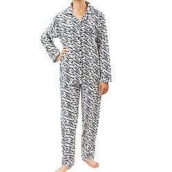 Leisureland Women's Zebra Print Pajamas Set