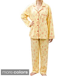 Leisureland Women's Yoga Print Pajama Set