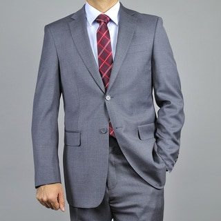 Men's Charcoal Grey 2-button Classic Wool Suit