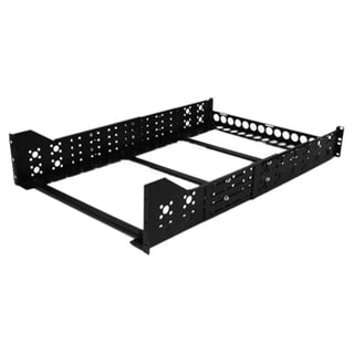 StarTech.com 3U Fixed 19 Adjustable Depth Universal Server Rack Rails