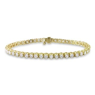 Miadora 14k Gold 6ct TDW Diamond Tennis Bracelet (G-H, I1-I2)