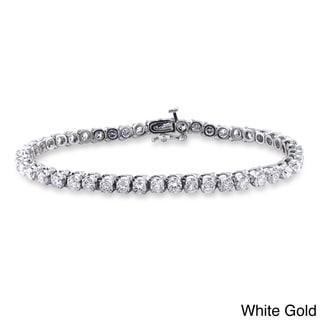 Miadora 14k Gold 6ct TDW Diamond Tennis Bracelet (G-H, I1-I2)