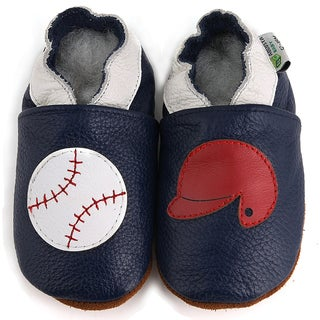 Baseball Soft Sole Slip-On Leather Baby Shoes