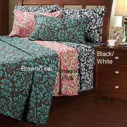 Damask Microfiber Twin-size Sheet Set