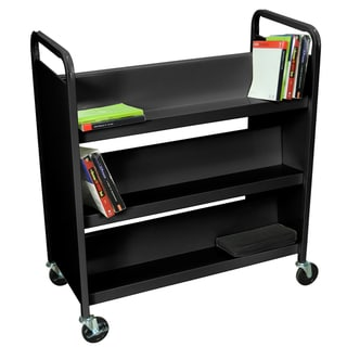 Luxor 6 Shelf Double Sided Book Truck