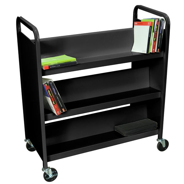 H.Wilson 37-inch 3 Shelve Double Sided Black Book