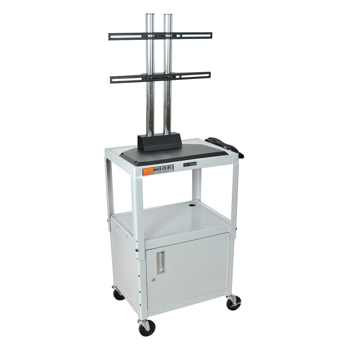Overstock.com Luxor Flat Panel Adjustable AV Cart with Cabinet at Sears.com
