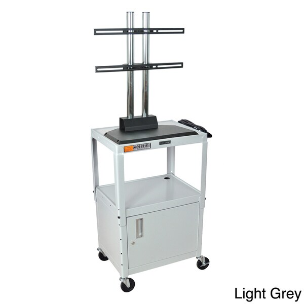 Luxor Flat Panel Adjustable AV Cart with Cabinet