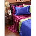 Solid Satin Queen-size Sheet Set