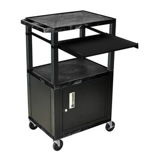 "H.Wilson 42"" H Presentation Stand with Locking Cabinet"