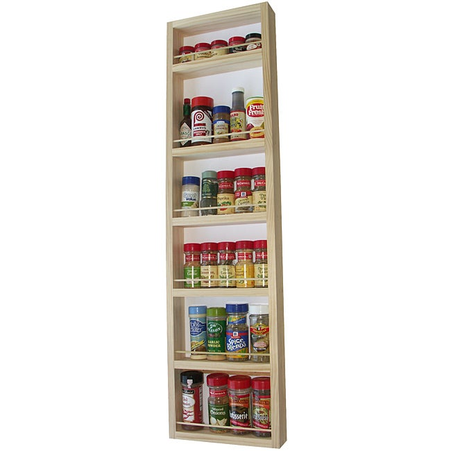 WG Wood Products Solid Wood Surface Mounted Kitchen Spice Rack at Sears.com