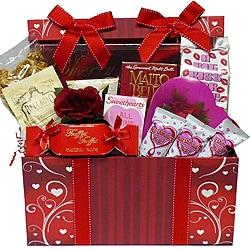Sweet Love Chocolate and Treats Gift Basket
