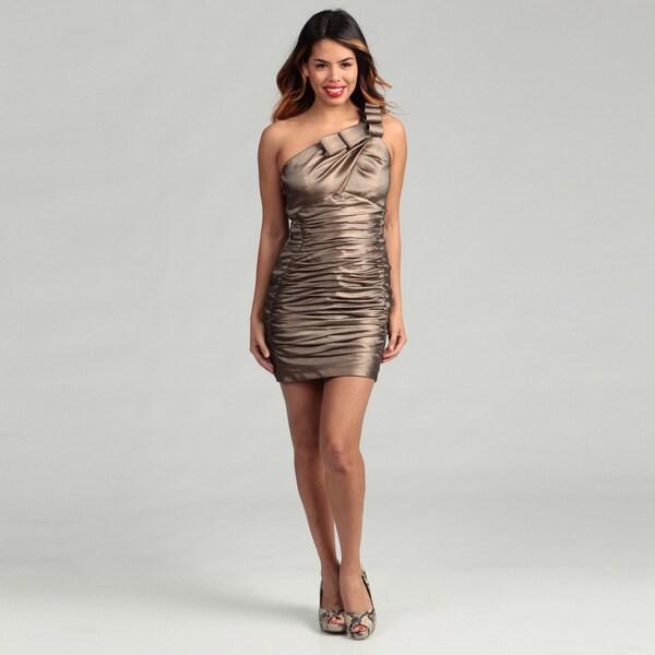 Jessica McClintock Women's Cinnamon Ruffle Dress