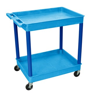 Luxor Blue 2 Tub Shelf Utility Cart