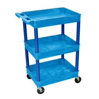 Luxor 3 Tub Shelf Utility Cart