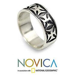Sterling Silver Men's 'Positive' Ring (Indonesia)