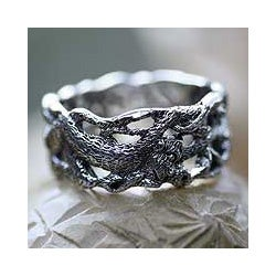 Sterling Silver Men's 'Monkey Business' Ring (Indonesia)