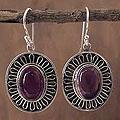 Sterling Silver 'Purple Star of India' Amethyst Earrings (India)