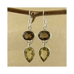 Sterling Silver 'Jaipur Fortunes' Multi-gemstone Earrings (India)