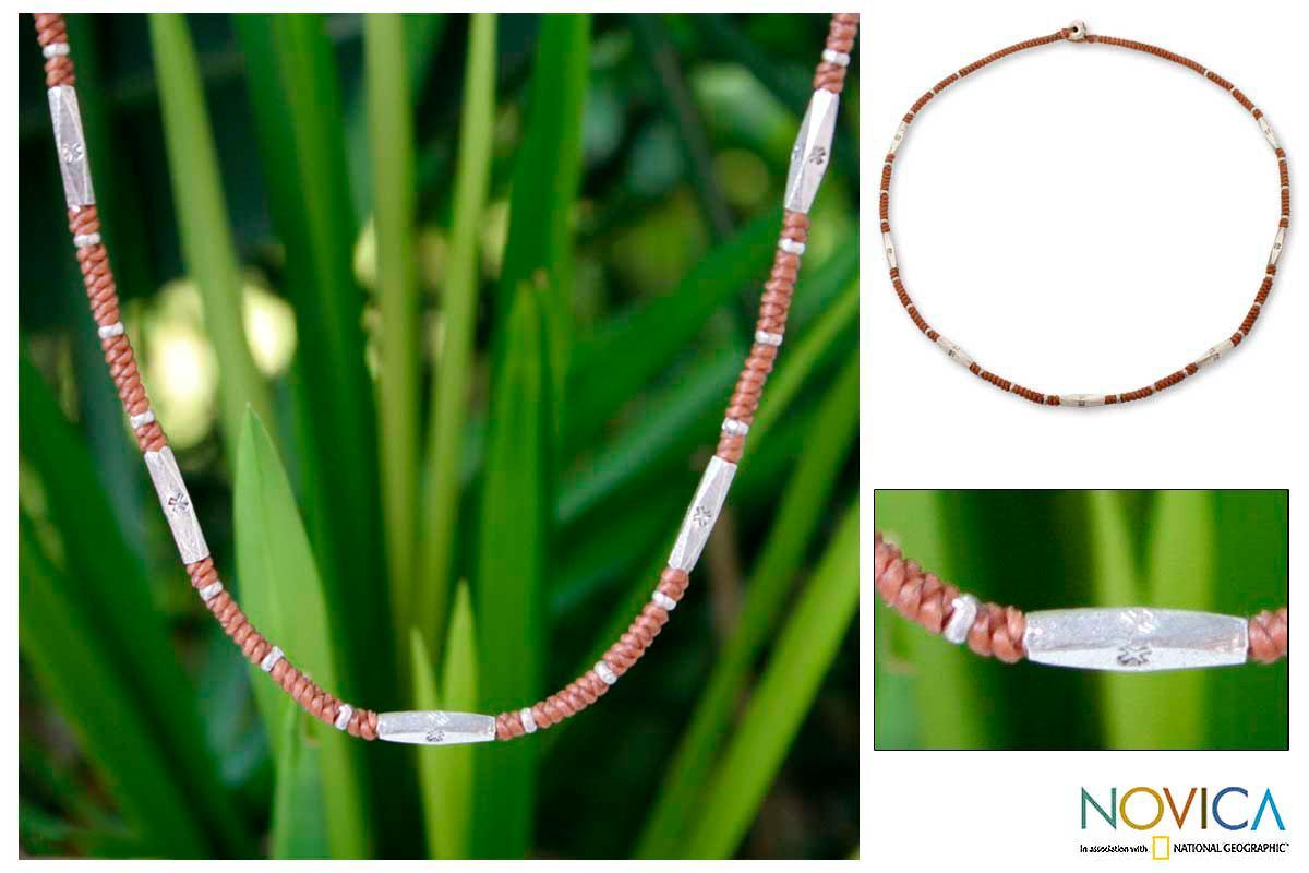 Silver 'Karen Bouquet' Necklace (Thailand)
