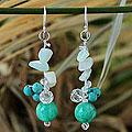 Sterling Silver 'Morning Skies' Multi-gemstone Earrings (Thailand)