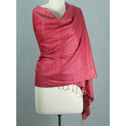 Handcrafted Silk 'Holiday Mood' Shawl (India)