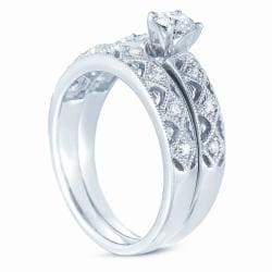 10k White Gold 1/2ct TDW Diamond Wedding Ring Set (H-I, I1-I2)