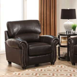 Abbyson Living Monaco Premium Top-grain Leather Armchair