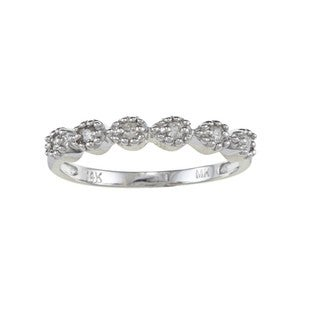 14k White Gold 1/8ct TDW White Diamond Stackable Band (J, I1-I2)