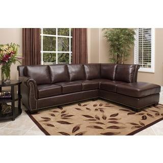 ABBYSON LIVING Glendale Premium Top-grain Leather Sectional Sofa