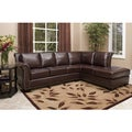 Abbyson Living Glendale Premium Top-grain Leather Sectional Sofa