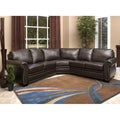 Abbyson Living Oxford Premium Top-grain Leather Sectional Sofa