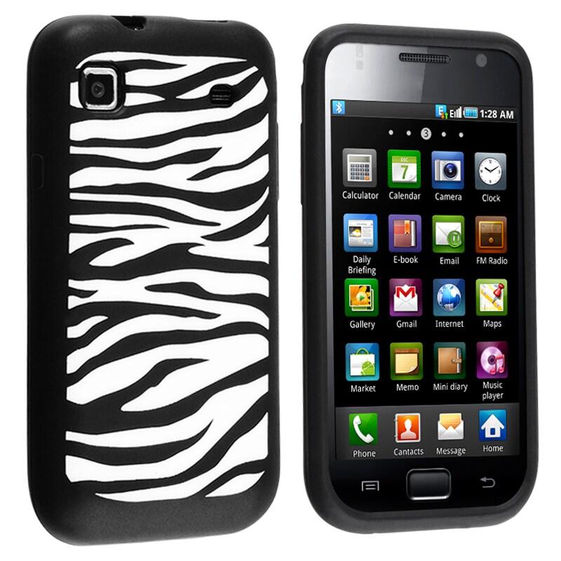 INSTEN Black/ White Zebra Soft Silicone Skin Phone Case Cover for Samsung i9000 Galaxy S/ T959