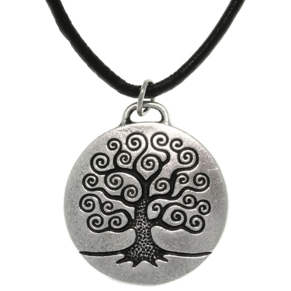 Antiqued-pewter 'Tree of Life' Celtic-style Pendant Necklace 8764864