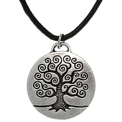 CGC Antiqued-pewter 'Tree of Life' Celtic-style Pendant Necklace