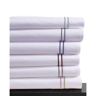 Dot Embroidered Egyptian Cotton 400 Thread Count Extra Deep Pocket Sheet Set